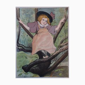 Kacia Lithographie von E. Delatre, 1897
