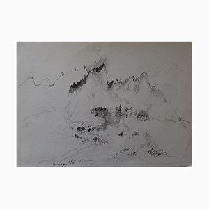 Courmayeur Drawing by Bernard Gantner