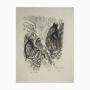 At the post Lithograph by Théophile Alexandre Steinlen, 1916