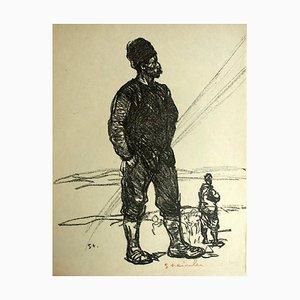 Litografia di Théophile Alexandre Steinlen, 1916