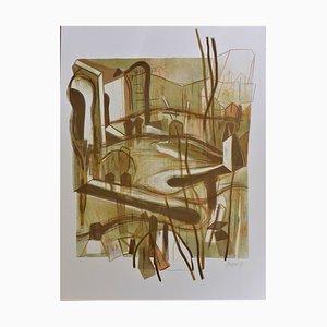 Lithographie Personas y sus sombras par Gabriel Macotela