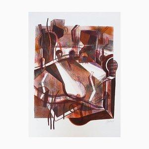 Litografia Ciudad y sombras di Gabriel Macotela