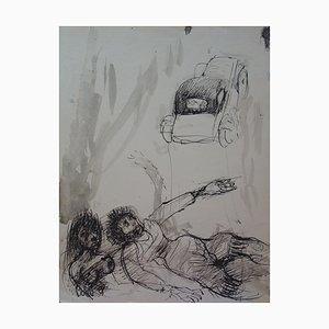 Scène de Rue Zeichnung von Edouard Goerg