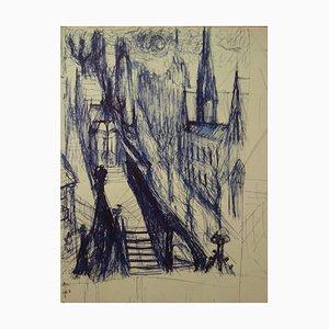 Disegno Prospectives d'une Cathédrale di Edouard Goerg