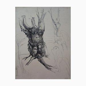 Tronc Anthropomorphe Zeichnung von Edouard Goerg