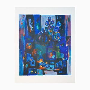 Nature Morte aux Iris Lithograph by Tony Agostini