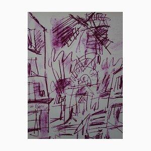 GEN PAUL : Montmartre - Le Moulin Rouge, Lithographie originale signée