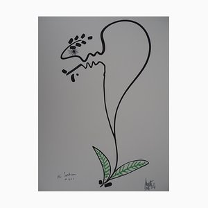 Jean COCTEAU and Raymond MORETTI: The flower of Being - original signed lithograph