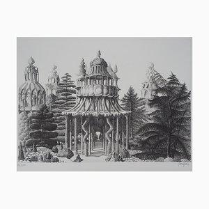 La Cité des Femmes Engraving by Jacques Houplain