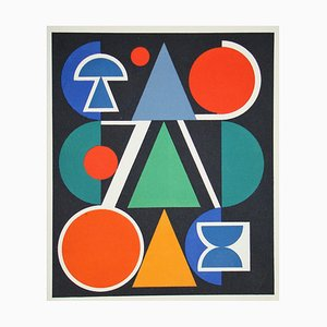 AUGUSTE HERBIN - Red, 1949, limited edition serigraph