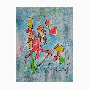 T'ou't Se Tient Lithograph by Roberto Matta, 1975
