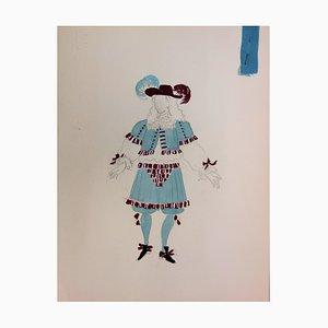 Costume à la Rococo Drawing by Suzanne Lalique