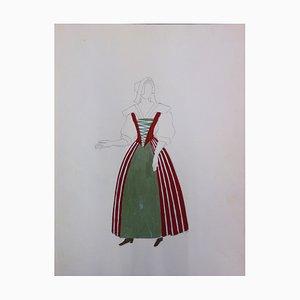 Costume de paysanne Drawing by Suzanne Lalique