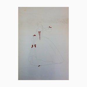 Disegno Costume de Mariane di Suzanne Lalique