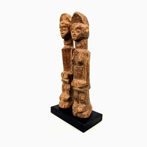 African Art, Ivory Coast - Bo Usu Couple of statuettes on base
