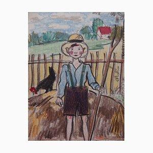 Farmer Boy Drawing by Gilbert Poillerat