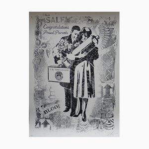 Damaged Proud Parents Artwork by Obey Shepard Fairey