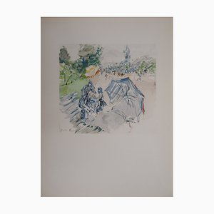 Jeune femme au Bois de Boulogne Lithograph Reprint by Berthe Morisot, 1946