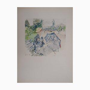 Jeune femme au Bois de Boulogne Lithographie Reprint von Berthe Morisot, 1946