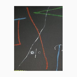 Bird in the Night Lithograph Reprint by Joan Miro, 1958