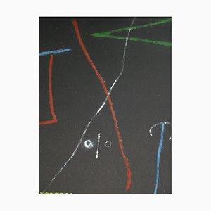 Litografia Bird in the Night di Joan Miro, 1958