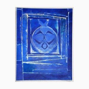 Blue Vase Stencil Reprint by Max Ernst, 1958
