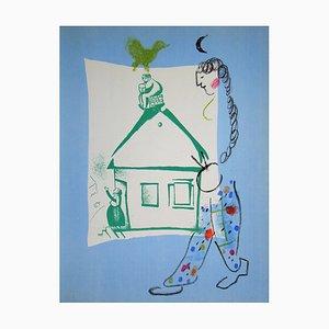 La Maison de mon Village Lithograph by Marc Chagall, 1960