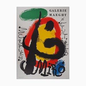 Litografia Peintures Murales di Joan Miro, 1961