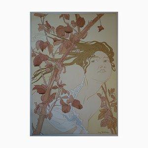 Lithographie In the Brambles par Henri Detouche