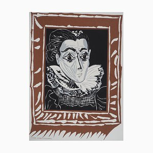 Lady with The Ruff Lithographie Reprint von Pablo Picasso