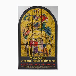 Stained Glass for Jerusalem Lithograph Reprint by Marc Chagall