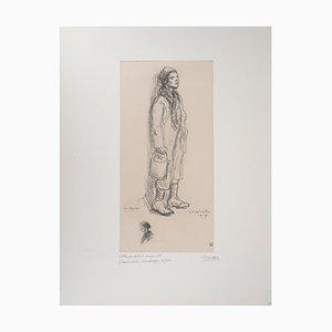 Litografia Le Môme di Théophile-Alexandre Steinlen