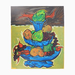 Isis KISCHKA : Fall fruits - Original lithograph - Signed