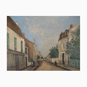 Street in Montmartre Lithograph by Maurice Utrillo