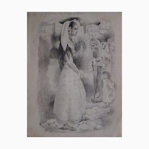 Disegno Bohémiens en Voyage di Mariette Lydis