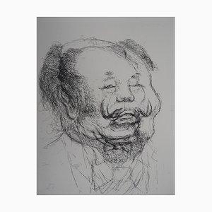 Dali en Mao Radierung von Tim