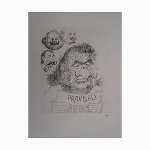 Dali en Soviétique Engraving by Tim