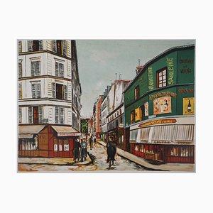 Litografia Seveste Street in Montmartre di Maurice Utrillo, 1923