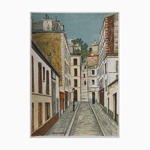 Passage Cottin à Montmartre Lithograph by Maurice Utrillo