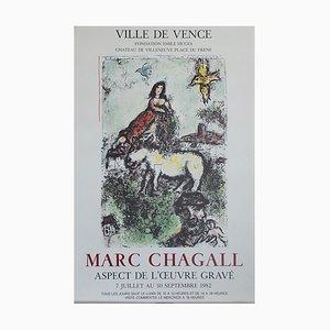 Aspect de l'oeuvre Gravé Poster by Marc Chagall