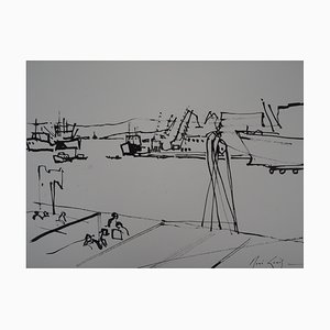 Athens Drawing by René Genis, 1978