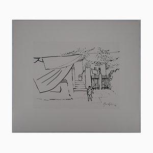 L'enfant Dans la Ruelle Drawing by René Genis
