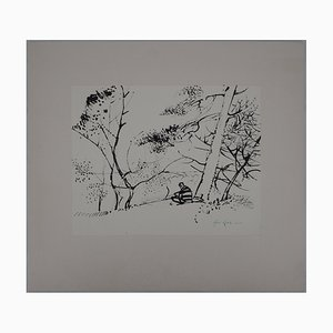 Maurice Genis Dominant la forêt de Fontainebleau Drawing by René Genis