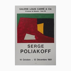 Galerie Carré & Cie Lithograph by Serge Poliakoff, 1981