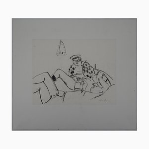 Le Repos des Pêcheurs Drawing by René Genis