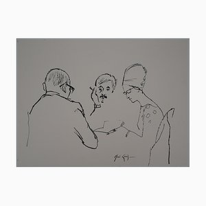 Trois Personnages Drawing by René Genis