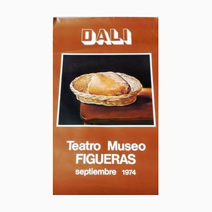 Poster del museo teatro vintage di Salvador Dali, 1974