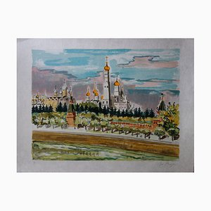 Russia, Orthodox Monastery Lithograph by Yves Brayer