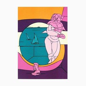 Barcelona Olympics 1992 Jo Barcelona1992 Lithograph by Valério Adami