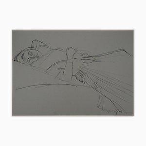 Disegno Young Woman Resting di René Genis